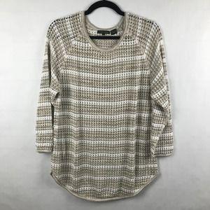 Jeanne Pierre 3/4 Sleeve Knit Sweater